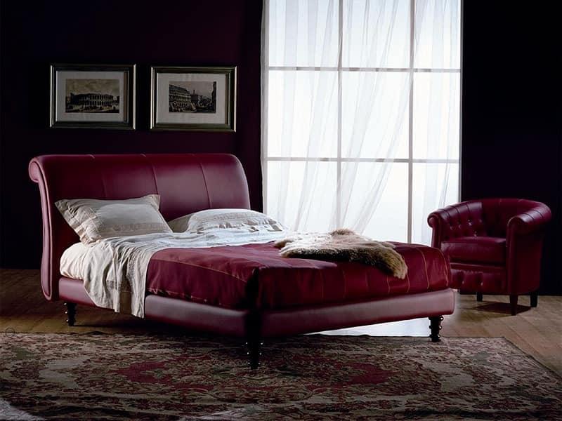 hand fertigen bett deckte in leder f r schlafzimmer. Black Bedroom Furniture Sets. Home Design Ideas