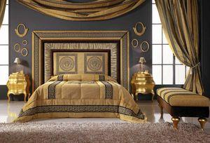 GRECALE Bett, Bett mit luxuriösem Kopfteil