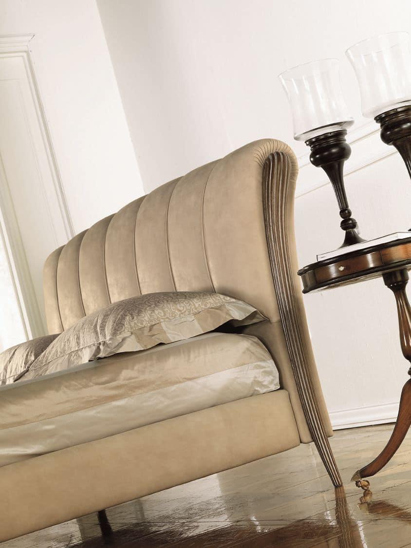luxury klassische bett holzeinlage mit decap polier. Black Bedroom Furniture Sets. Home Design Ideas