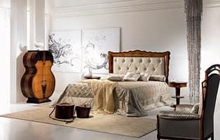 LE12 Pois Bett, Mit gesteppter Polsterung, klassisch, Die Holzbetten