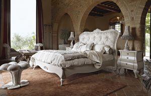 Leonardo Bett, Klassisches Bett mit Silberschnitzereien