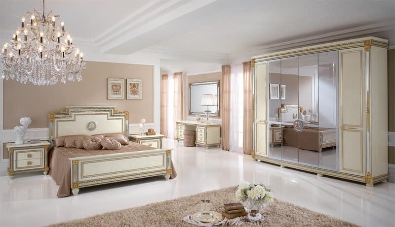 luxusbett im klassischen stlye mit handgefertigten. Black Bedroom Furniture Sets. Home Design Ideas