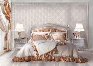 Lisa C/361/3, Hand dekoriert Bett, Luxus-Stil