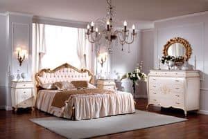 OLIMPIA B / Doppelbett mit gepolstertem Kopfteil, Luxuriöse Doppelbett, gesteppten Kopfteil