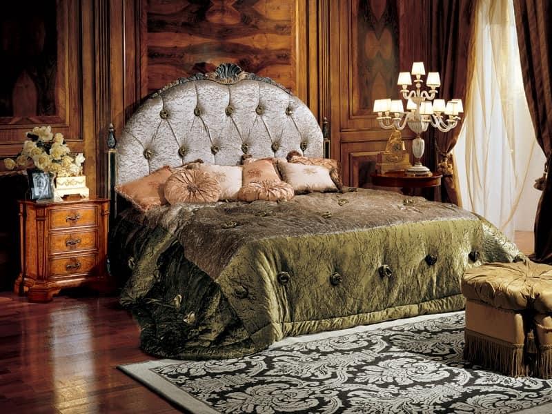 Paradise bed, Bett mit Kopfteil capitonné upholtered