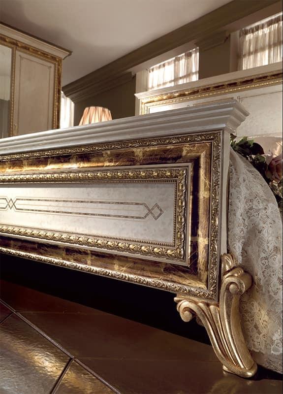 Bett Aus Holz Mit Gepolstertem Kopfteil ~ Luxuriöses Bett mit gepolstertem Kopfteil aus Holz oder, mit