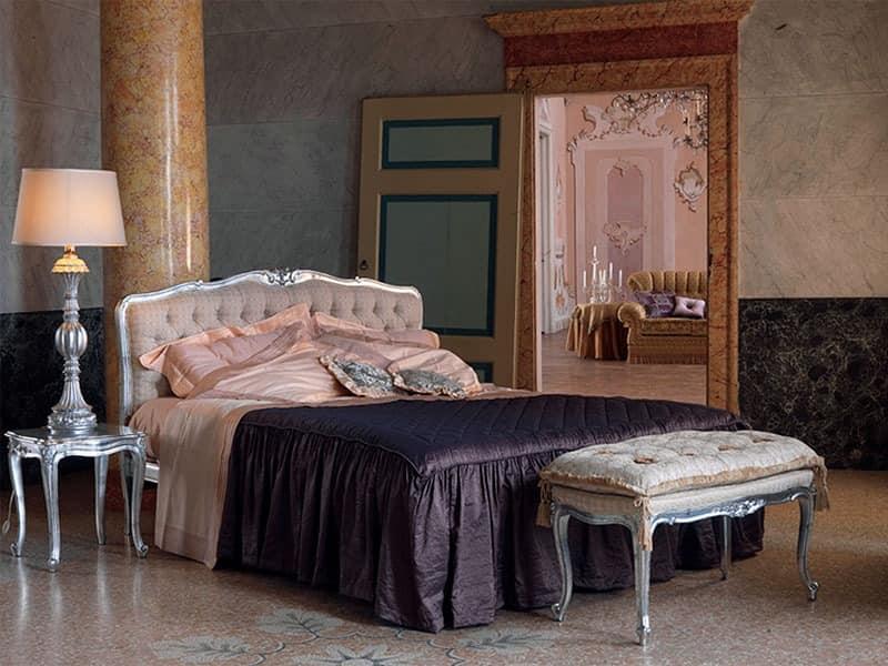 Klassisches Doppelbett In Weiß Lackiertem Holz | Idfdesign