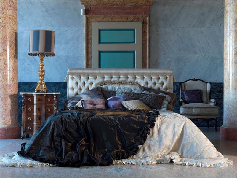 luxuri ses bett capitonn f r klassische badrooms. Black Bedroom Furniture Sets. Home Design Ideas