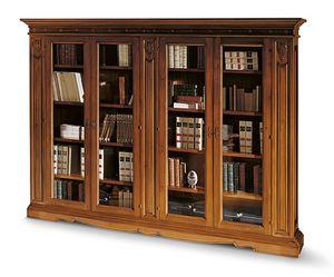 1481V2, Viertüriges Bücherregal im klassischen Stil