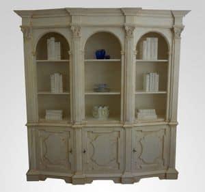 3550 BOOKCASE, Luxuriöse Bücherregal aus Holz, für klassische Wohnzimmer