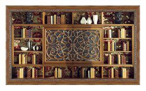 4039, Klassisches Bücherregal mit TV-Ständer