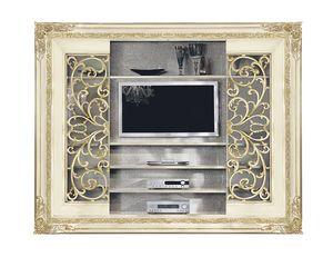 4047B, Schiebetür Bücherregal mit TV-Ständer