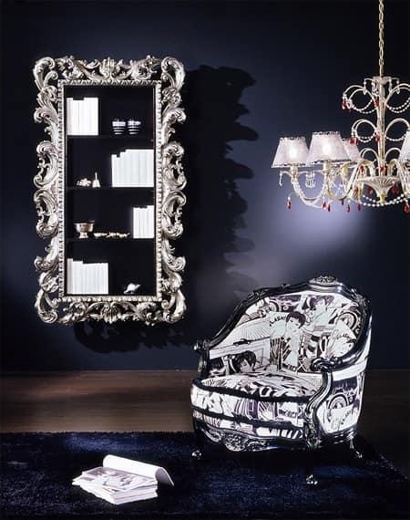 geschnitzt klassische bibliothek blattsilber finish. Black Bedroom Furniture Sets. Home Design Ideas