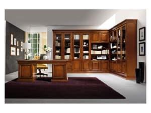 Art.0742 / L, Corner Bücherregal aus Holz, klassischen Stil