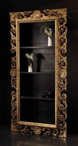 Art. 20668, Bücherschrank im klassischen Stil mit geschnitzten Rahmen