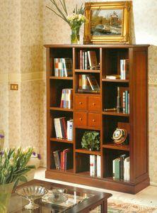 Art. 860, Bücherregal im klassischen Stil mit Schubladen und Regalen