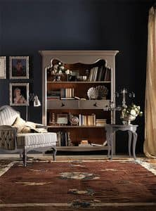 Art. AX401, Edelholz-Bücherregal, mit einem Land-Chic-Stil