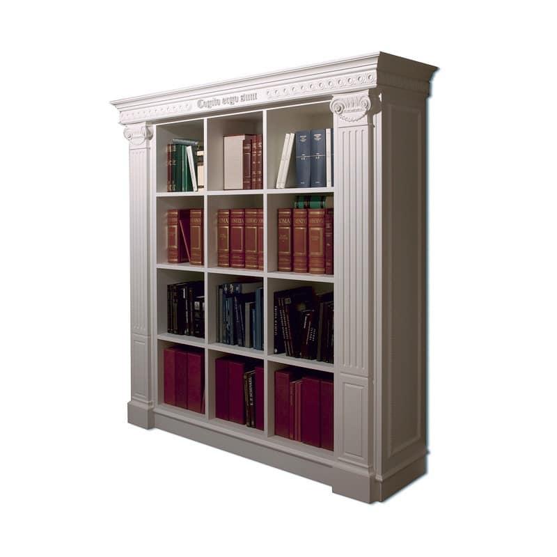luxuri se bibliothek handgemachte schnitzereien f r. Black Bedroom Furniture Sets. Home Design Ideas