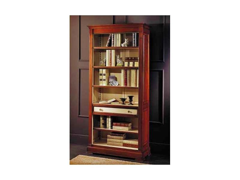 klassischen stil b cherregal aus kirschholz. Black Bedroom Furniture Sets. Home Design Ideas