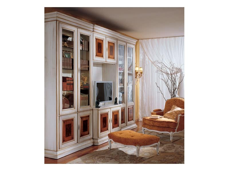 luxury klassische b cherregal aus holz idfdesign. Black Bedroom Furniture Sets. Home Design Ideas