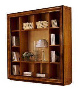Herge CH.0061, Klassisches Bücherregal aus Walnuss