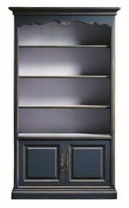 Lorena FA.0100, Bücherregal mit 2 Türen und 4 Fachböden, im klassischen Stil
