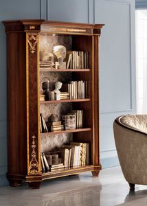 Modigliani 2 Türen Bücherregal, Vom Empire-Stil inspiriertes Bücherregal
