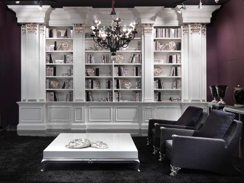 bibliothek luxuri se neuinterpretation eines klassischen. Black Bedroom Furniture Sets. Home Design Ideas