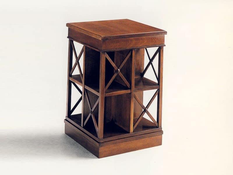 Klassischer B Cherschrank Aus Holz Drehbar Aus Massivem Mahagoni Idfdesign