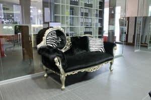 Monet Zebra, Barock Daybed, Handarbeit, Luxus im klassischen Stil