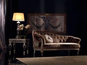 Paolina, Luxus klassischen Chaiselongue, gesteppt, für den Empfang