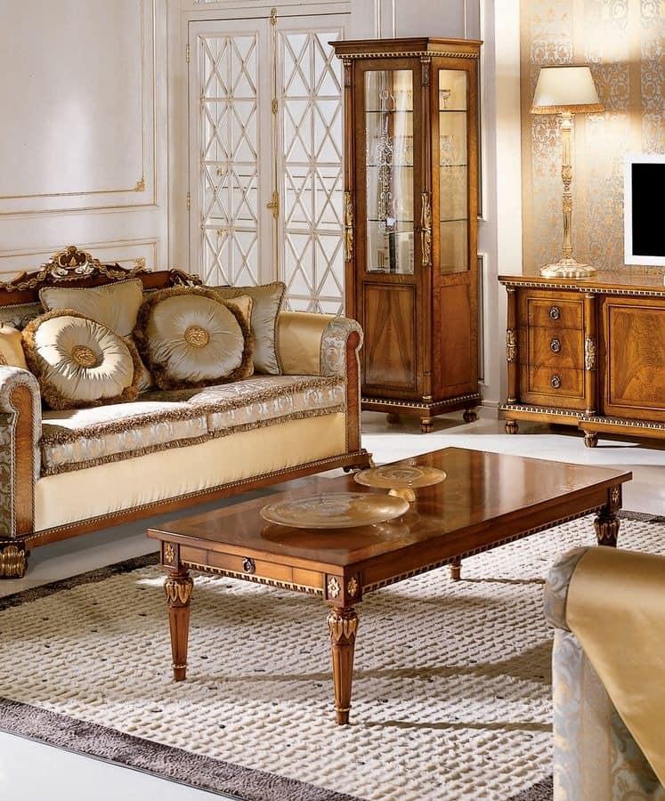 Rechteckiger couchtisch im klassischen luxus stil f r for Luxus couchtisch
