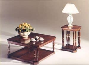 3035 COUCHTISCH, Platz Couchtisch aus Holz für den klassischen Stil Wohnzimmer