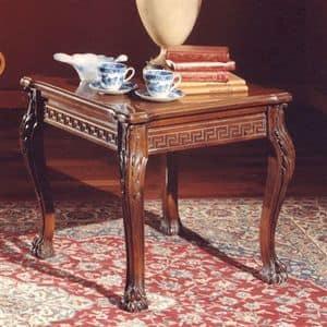 3175 TAVOLINO, Couchtisch mit Platz oben in Holz geschnitzt, klassischen Stil