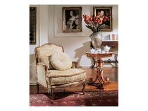3210 SMALL TABLE, Runder Tisch für Luxus klassischen Salons, Blattgold