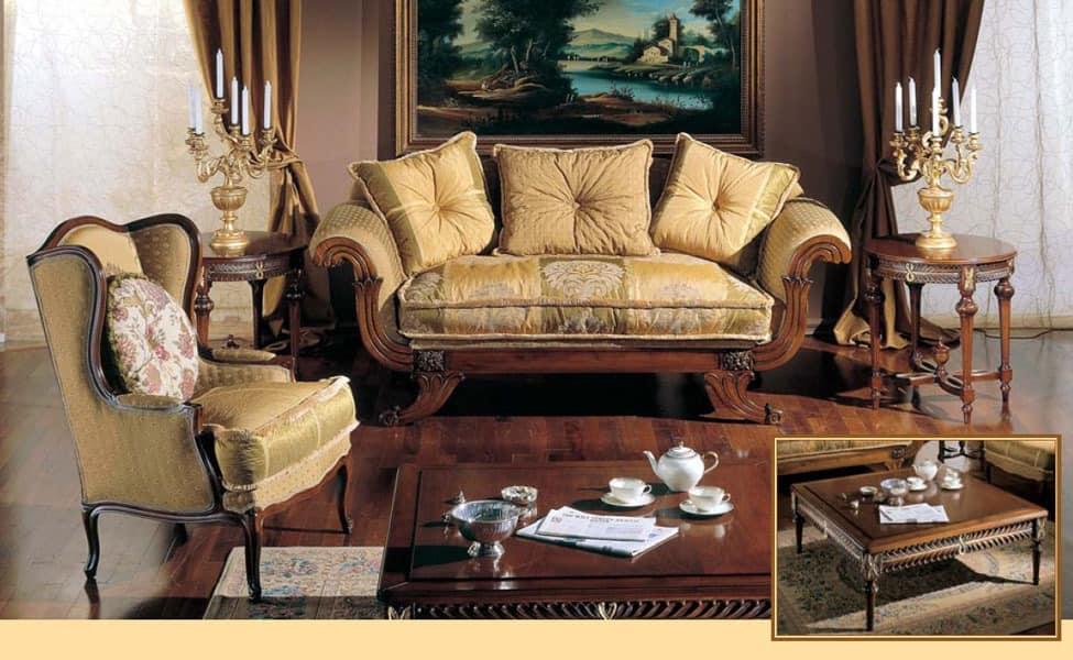 3285 SMALL TABLE, Handgeschnitzte Couchtisch für Wohnzimmer Luxus classic