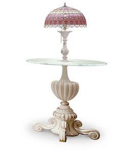 4614/TL, Runder Lampentisch mit Tiffany-Lampe