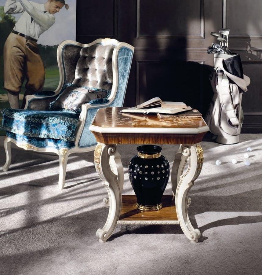 luxus wohnzimmer tische:Tische kleine Tische klassische Stil Luxus und klassisch quadratisch