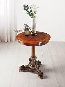 Art. 177, Eingelegter runder Tisch mit Schublade