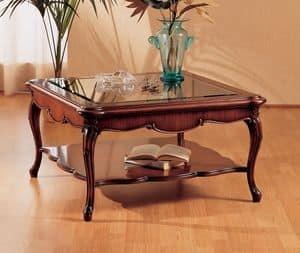 Art. 220/Q, Kleiner Tisch mit dekorierten Beine, für Wohnzimmer