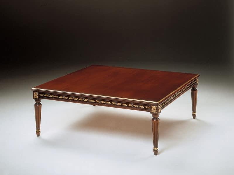 Art. 261/Q, Klassischen kleinen Tisch in Holz geschnitzt, für Wohnzimmer