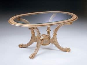 Art. 269/B, Klassischen kleinen Tisch in Holz geschnitzt, für das Büro