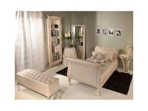 Art 269-WB, Couchtisch in Buche und Glas, für Suiten des Luxushotels