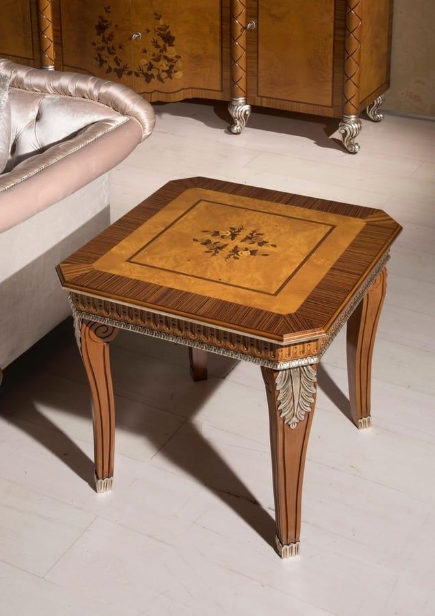 Klassischer Couchtisch Quadratisch Aus Holz Und Bruyere Idfdesign