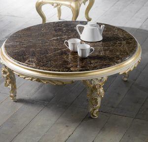 Art. 4083.099, Niedriger Tisch mit Blumenschnitzereien, klassischer Stil