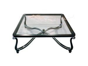 Art. 999, Kostbar kleinen Tisch dekoriert, Glasplatte, für Lobby