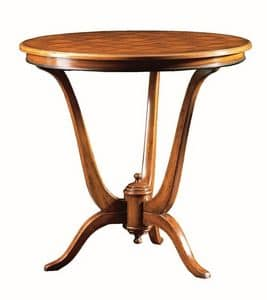 Claudio FA.0114, Deco Tisch, Holzsockel mit 3 Fuß