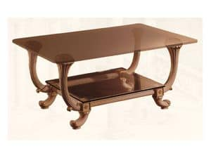 Coffe Table art. 311, Klassischen Stil kleinen Tisch, mit zwei Glasböden