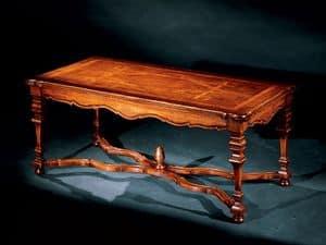 Elena coffee table 762, Kleiner Tisch mit handgefertigten Inlays