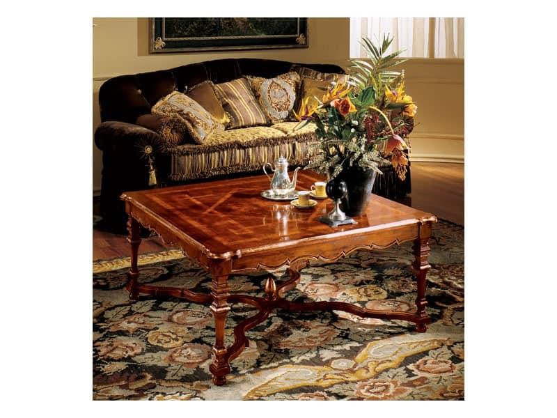 Elena coffee table 769, Luxus Couchtisch mit eingelegter Spitze